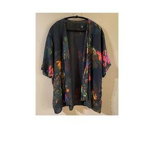 Watercolour Print Kimono